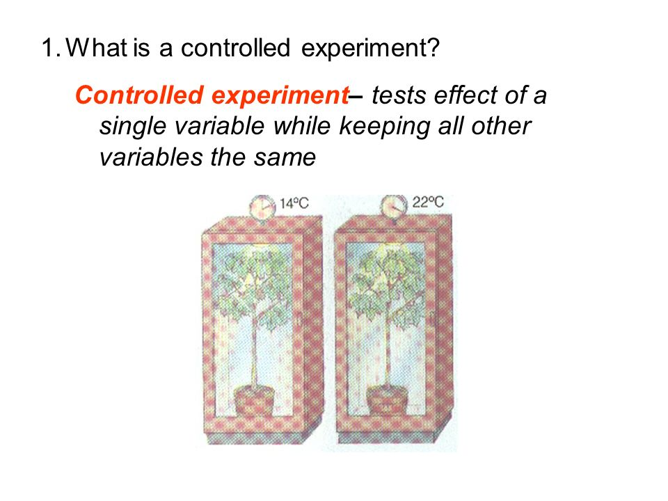 What is a controlled experiment