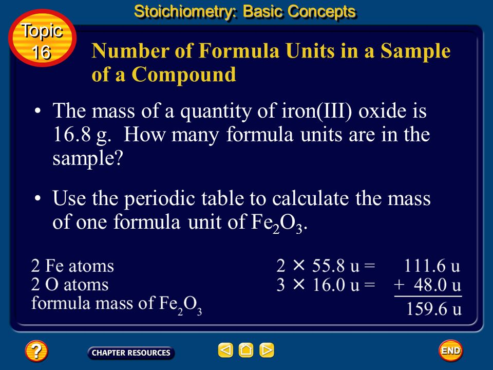 Number of Formula Units in a Sample of a Compound