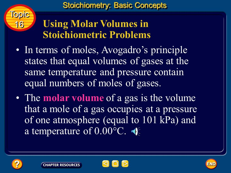 Using Molar Volumes in Stoichiometric Problems