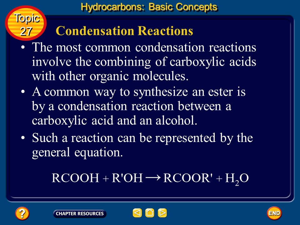 Condensation Reactions
