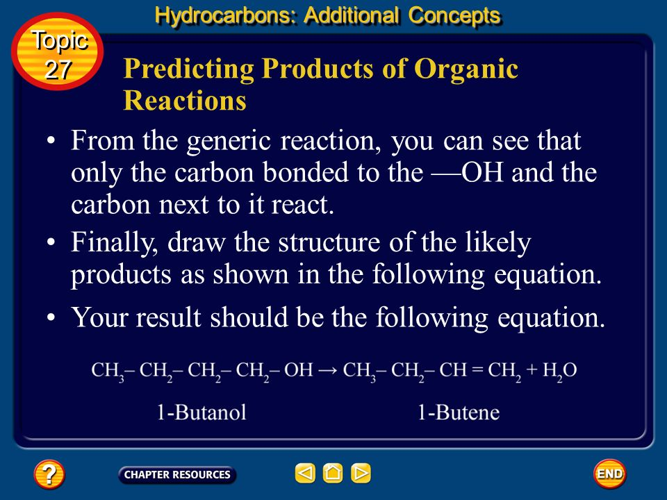 Predicting Products of Organic Reactions