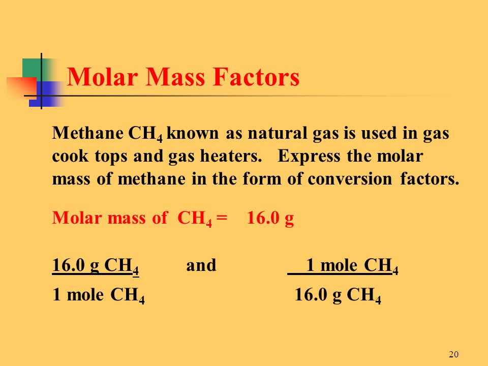 Molar Mass Factors