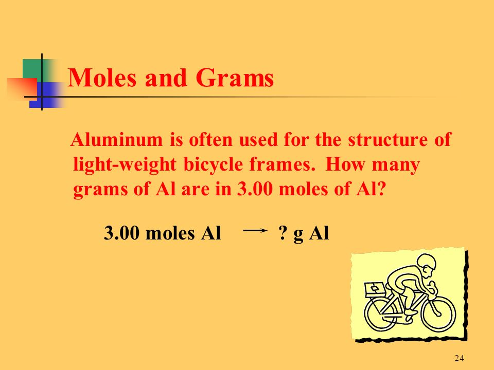 Moles and Grams 3.00 moles Al g Al