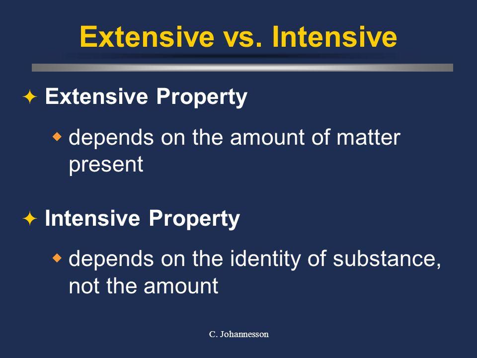 Extensive vs. Intensive
