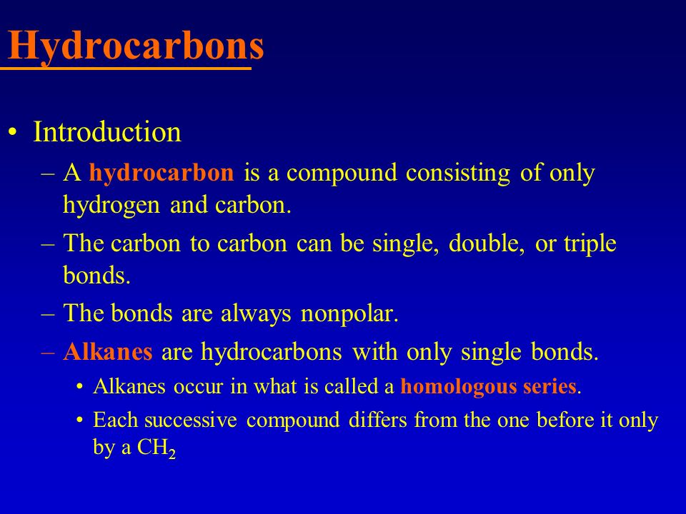 Hydrocarbons Introduction