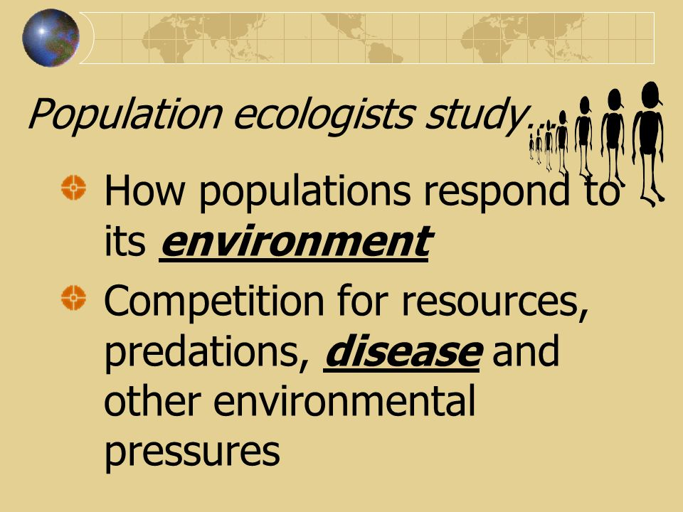 Population ecologists study…
