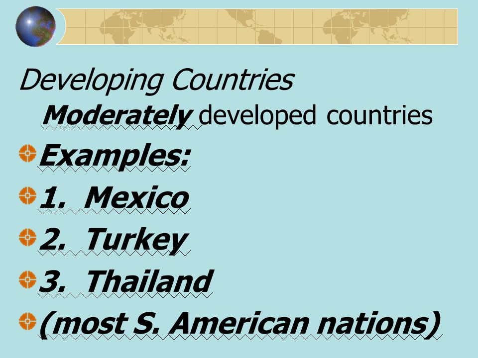 (most S. American nations)