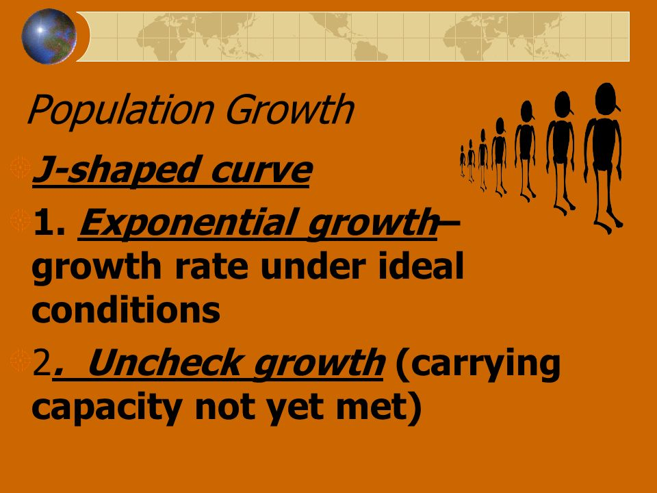Population Growth J-shaped curve