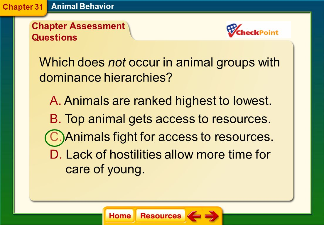 Which does not occur in animal groups with dominance hierarchies