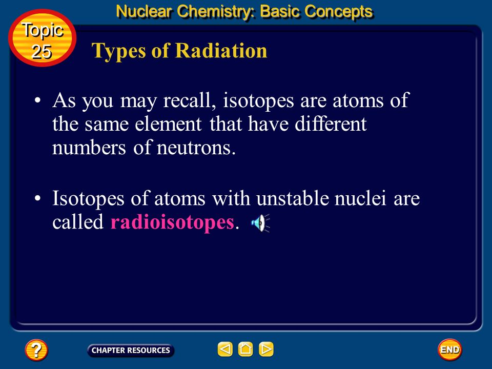 Isotopes of atoms with unstable nuclei are called radioisotopes.