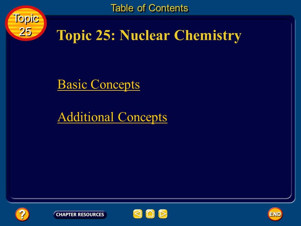 Topic 25: Nuclear Chemistry