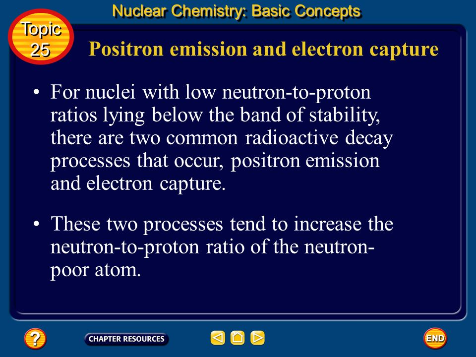 Positron emission and electron capture