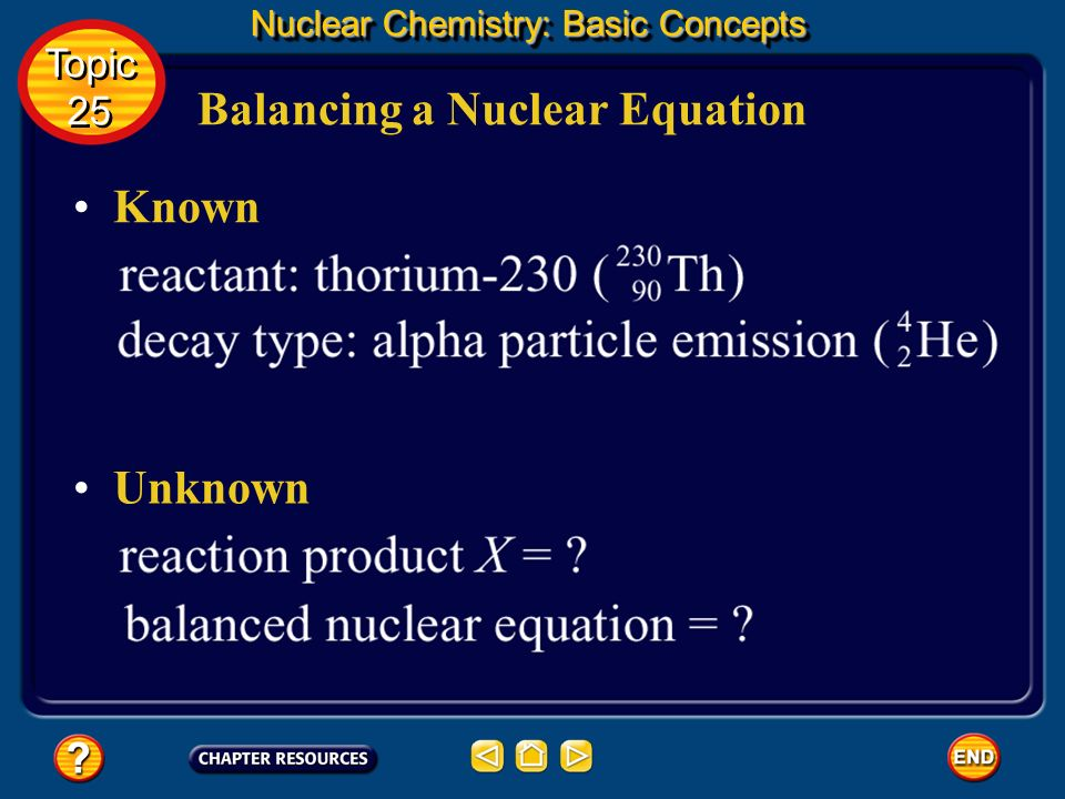 Balancing a Nuclear Equation
