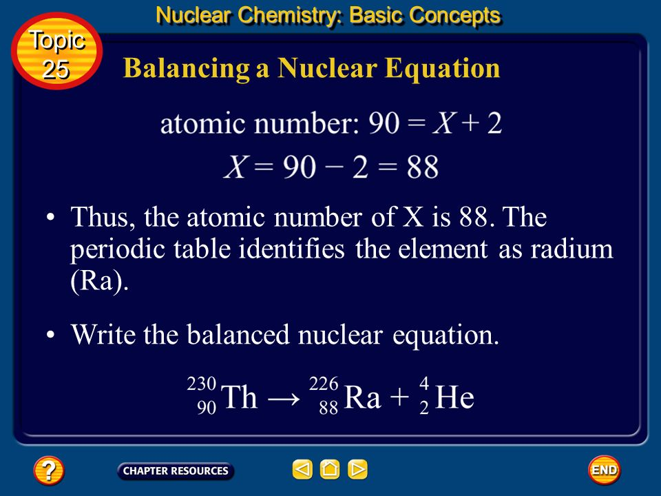 Balancing a Nuclear Equation
