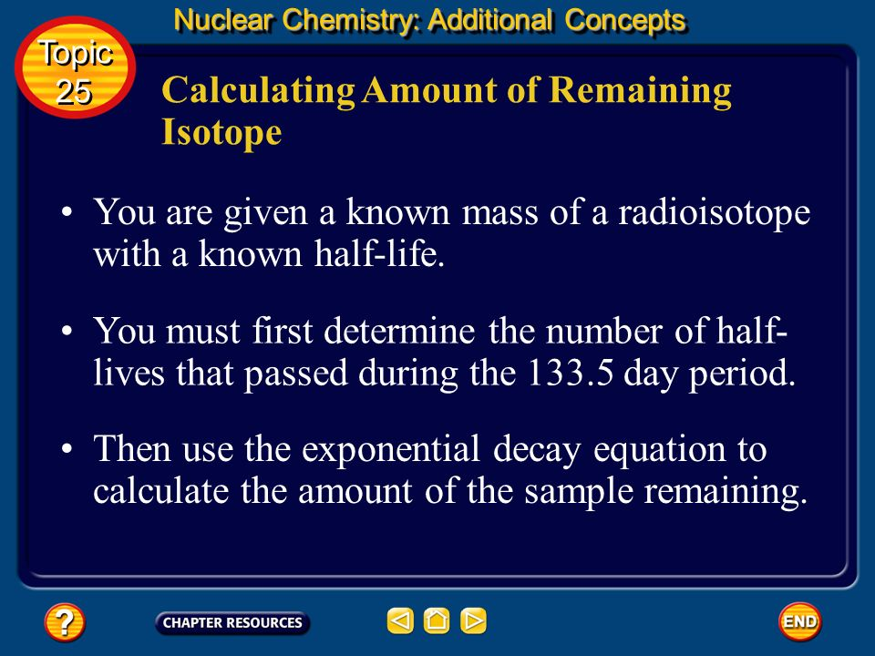 Calculating Amount of Remaining Isotope