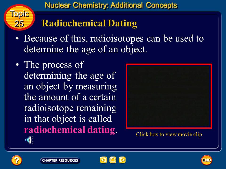 Nuclear Chemistry: Additional Concepts