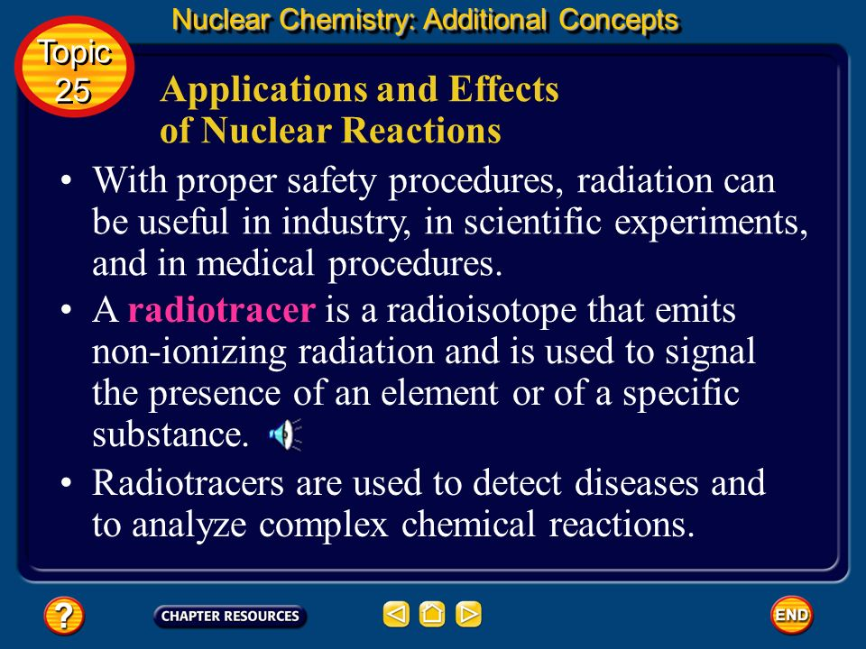 Applications and Effects of Nuclear Reactions