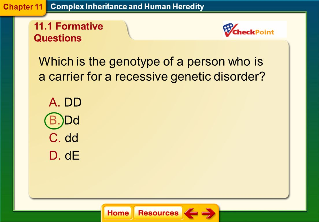 Which is the genotype of a person who is