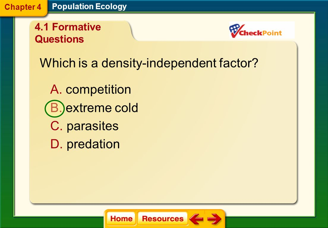 Which is a density-independent factor