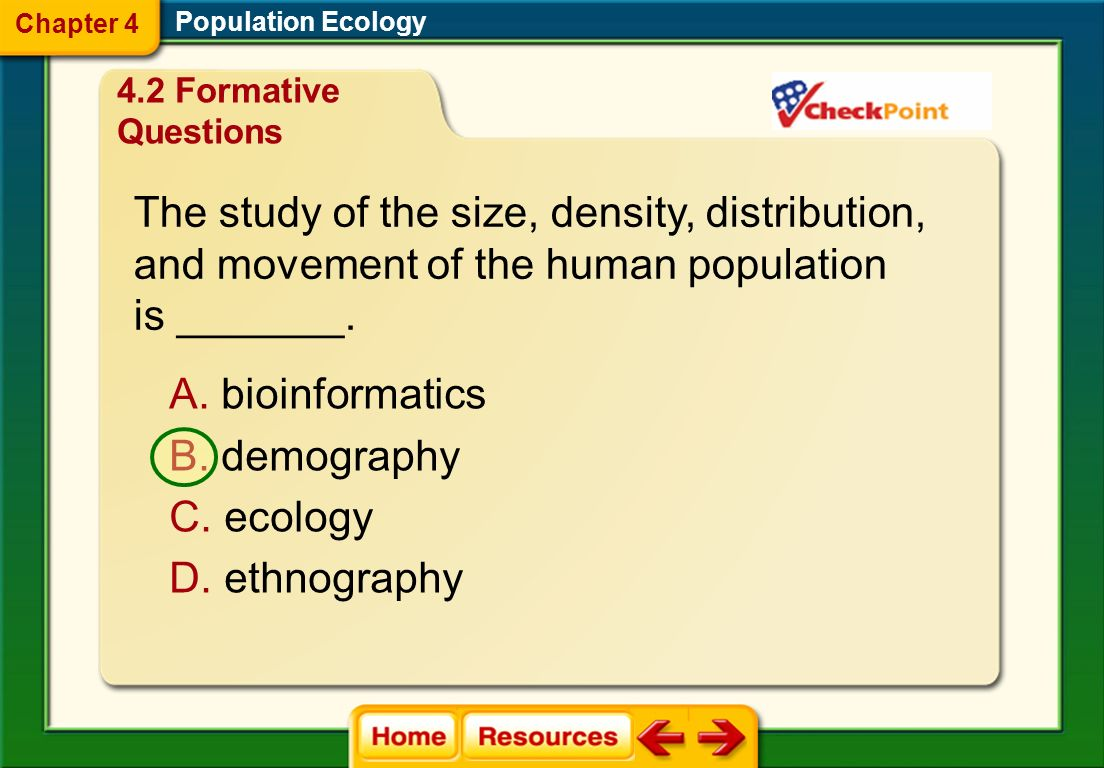 The study of the size, density, distribution,
