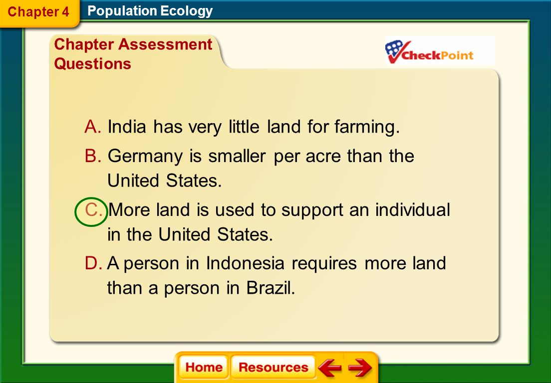 India has very little land for farming.