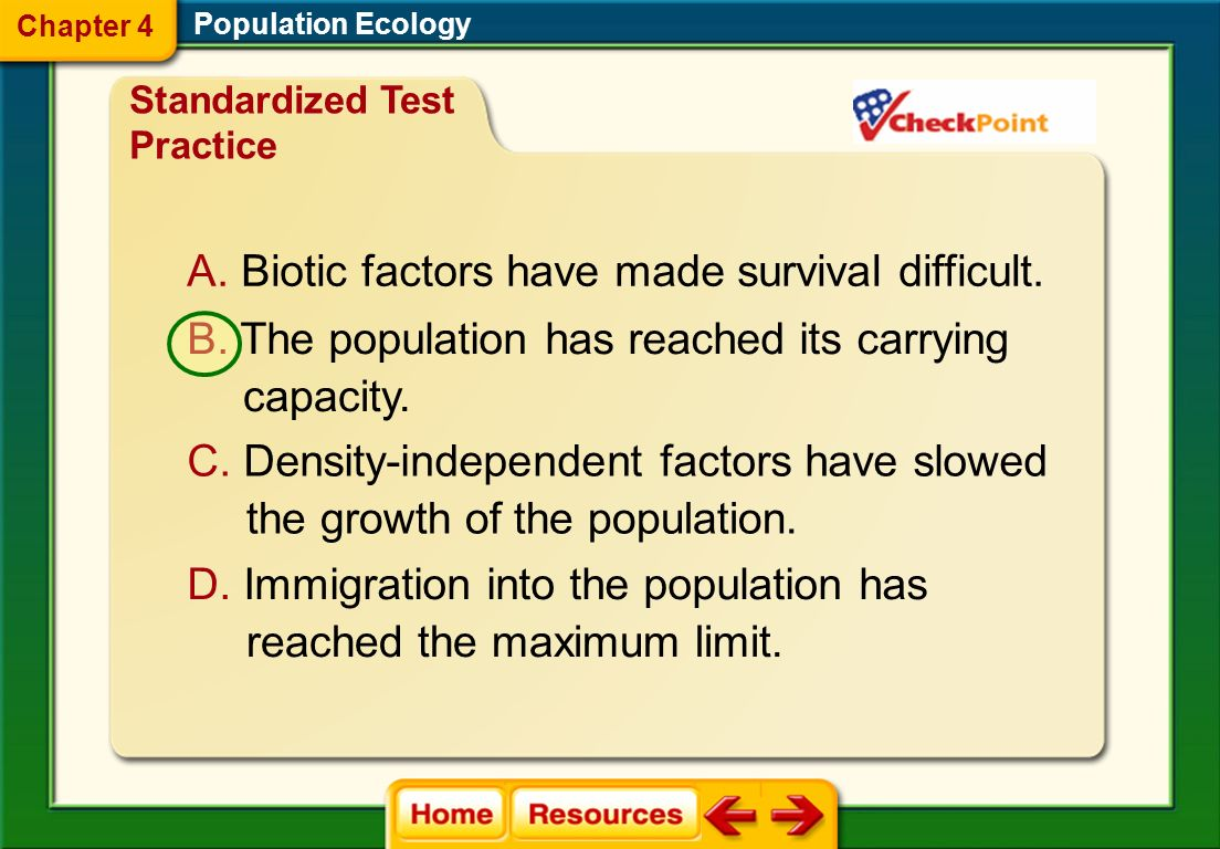 Biotic factors have made survival difficult.