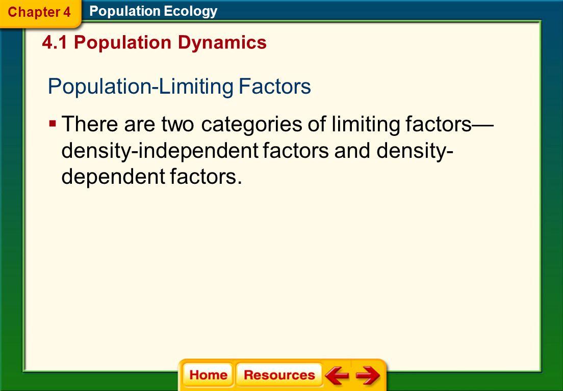 Population-Limiting Factors