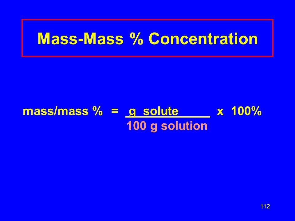 Mass-Mass % Concentration