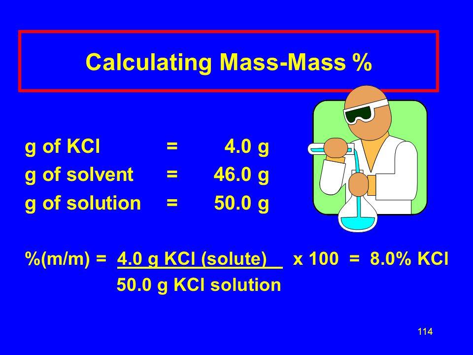 Calculating Mass-Mass %