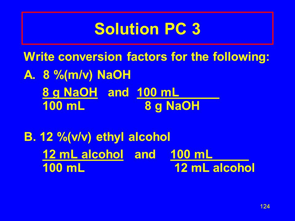 Solution PC 3 Write conversion factors for the following: