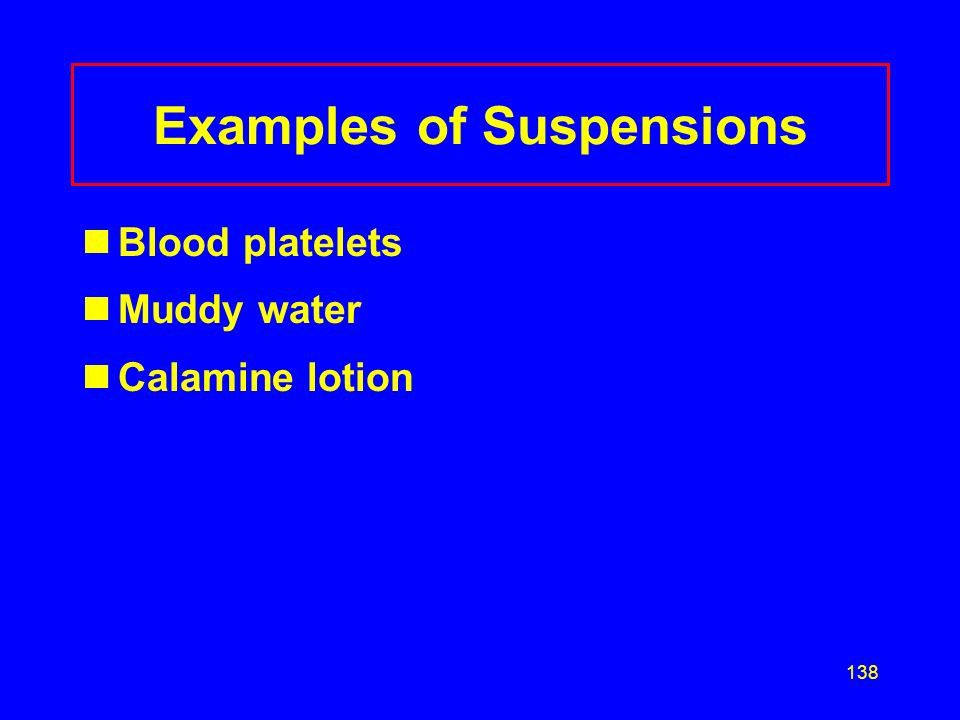 Examples of Suspensions