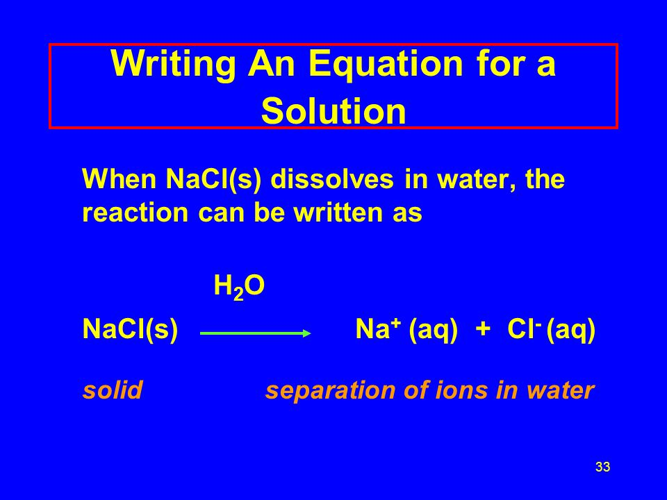 Writing An Equation for a Solution