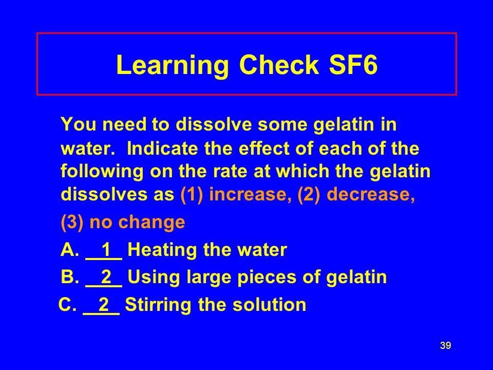 Learning Check SF6