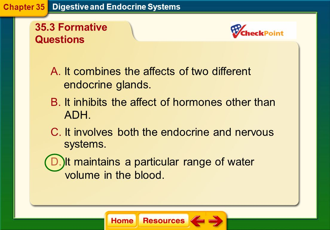 It combines the affects of two different endocrine glands.