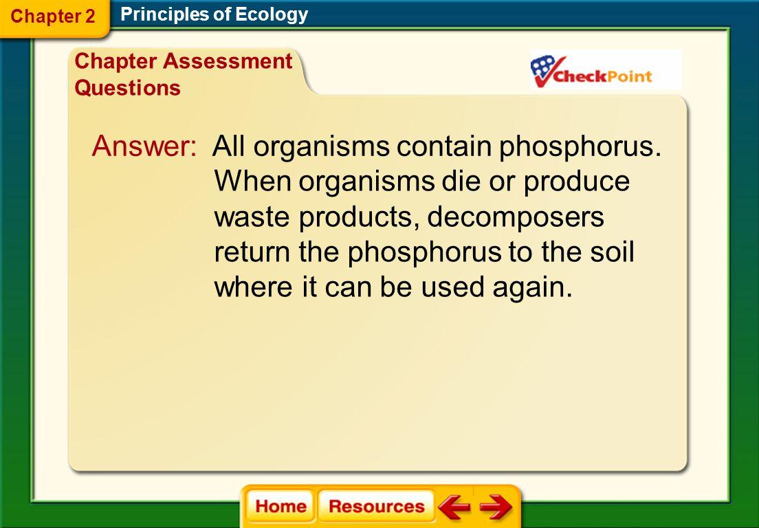 Answer: All organisms contain phosphorus.