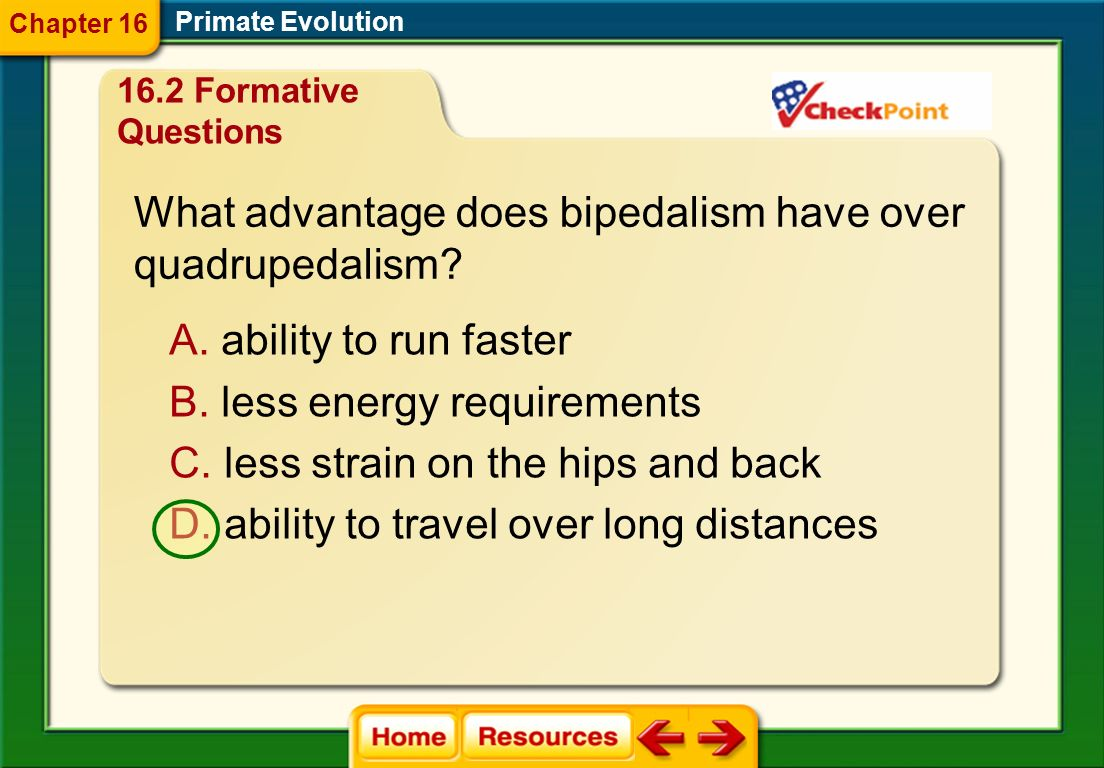 What advantage does bipedalism have over quadrupedalism