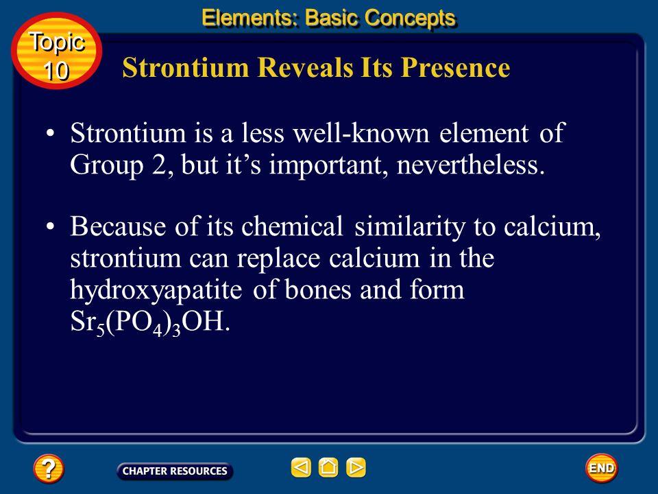 Strontium Reveals Its Presence