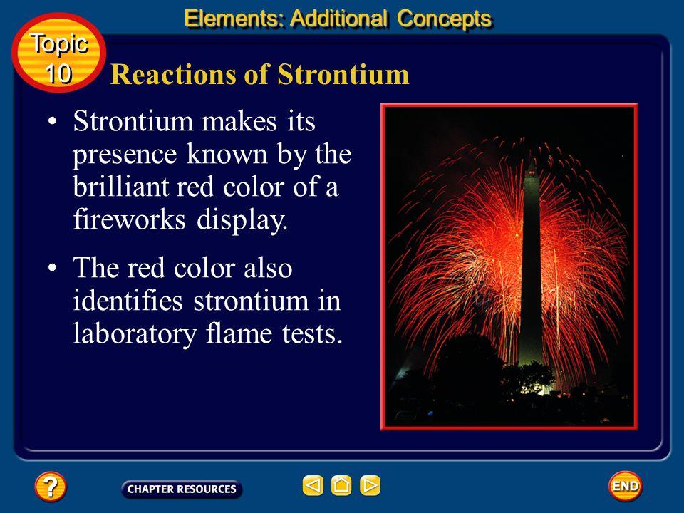 Reactions of Strontium
