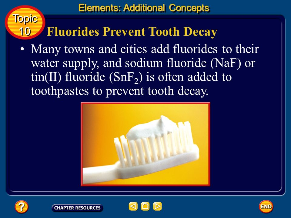 Fluorides Prevent Tooth Decay
