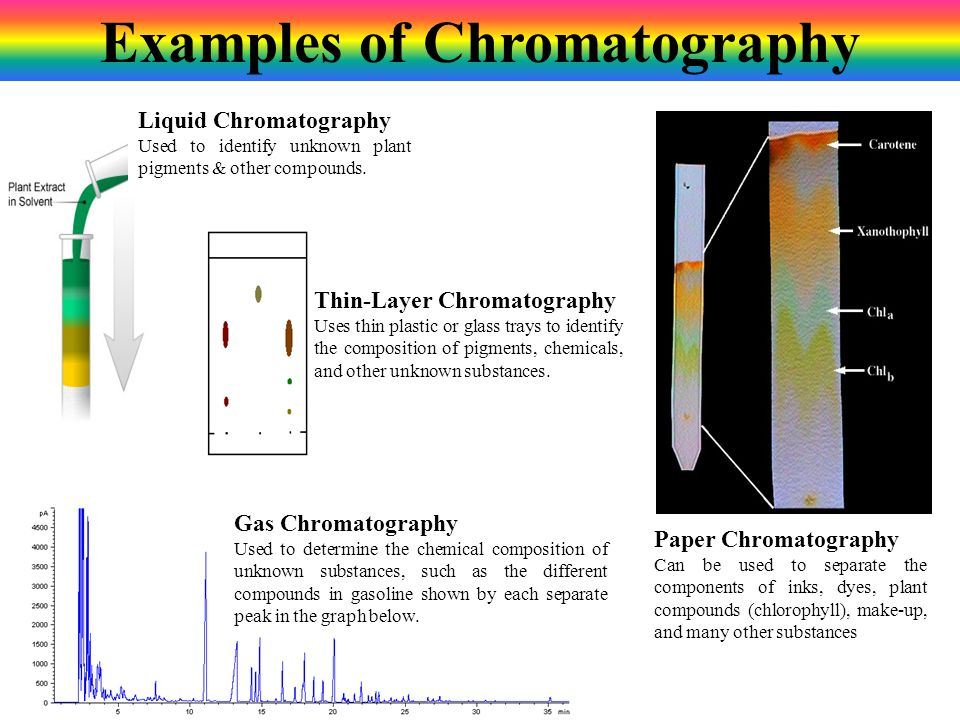 Examples of Chromatography