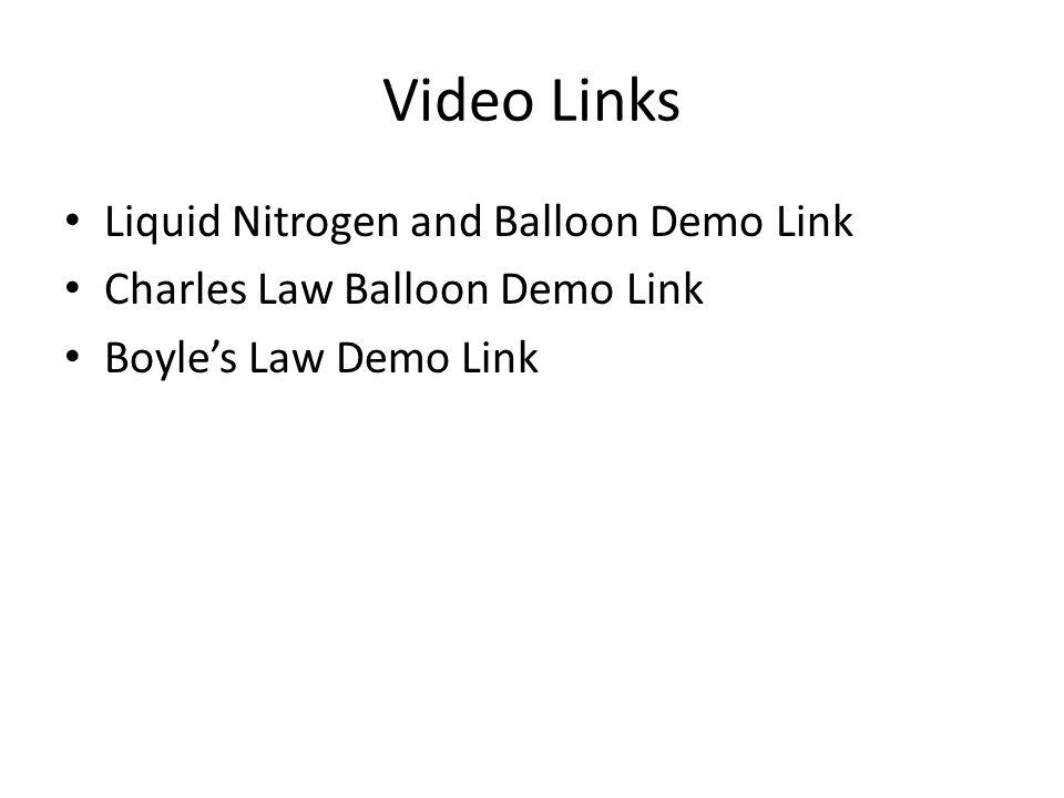 Video Links Liquid Nitrogen and Balloon Demo Link