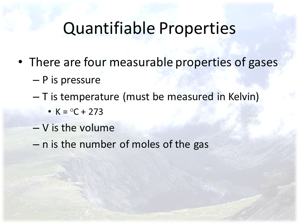 Quantifiable Properties