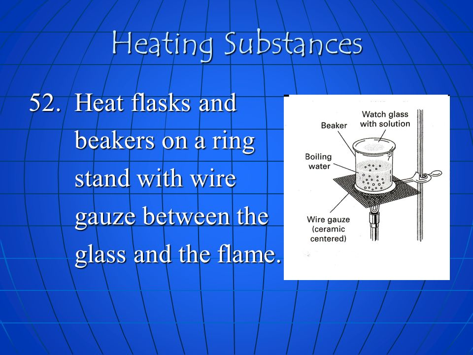 Heating Substances 52.