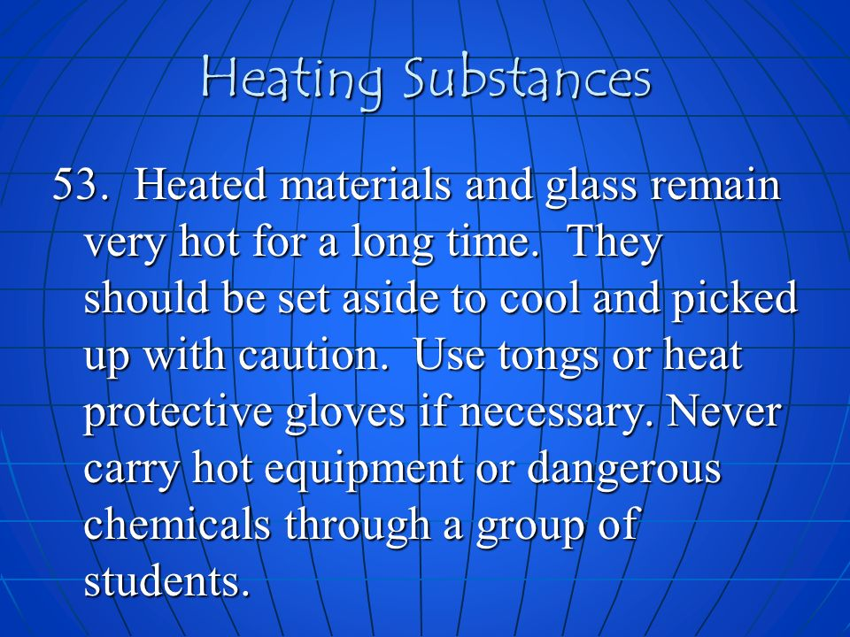 Heating Substances