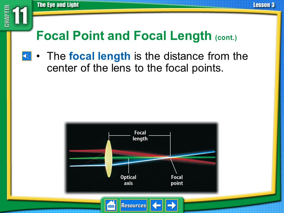 Focal Point and Focal Length (cont.)