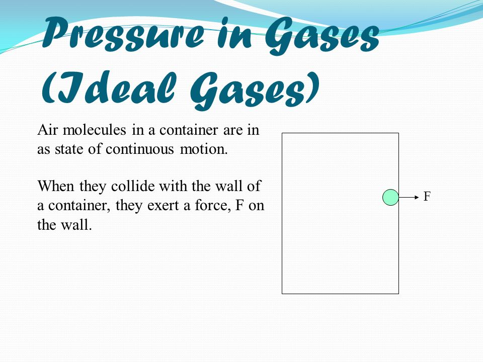 Pressure in Gases (Ideal Gases)