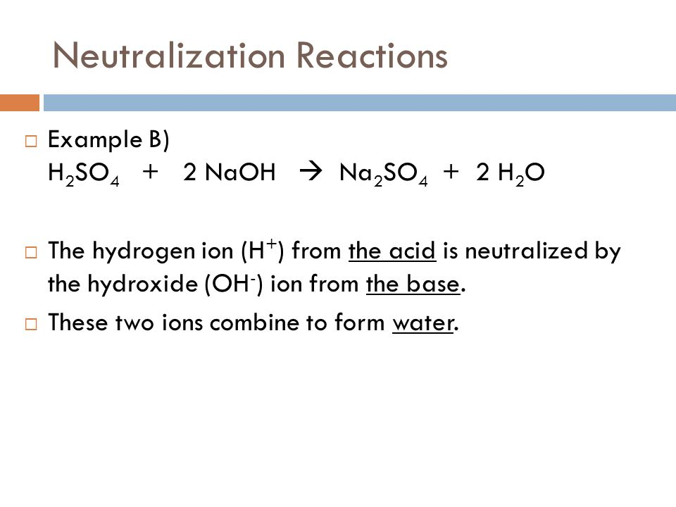 Stomach Acid Neutralization Equation For Naoh And H2so4 Balanced