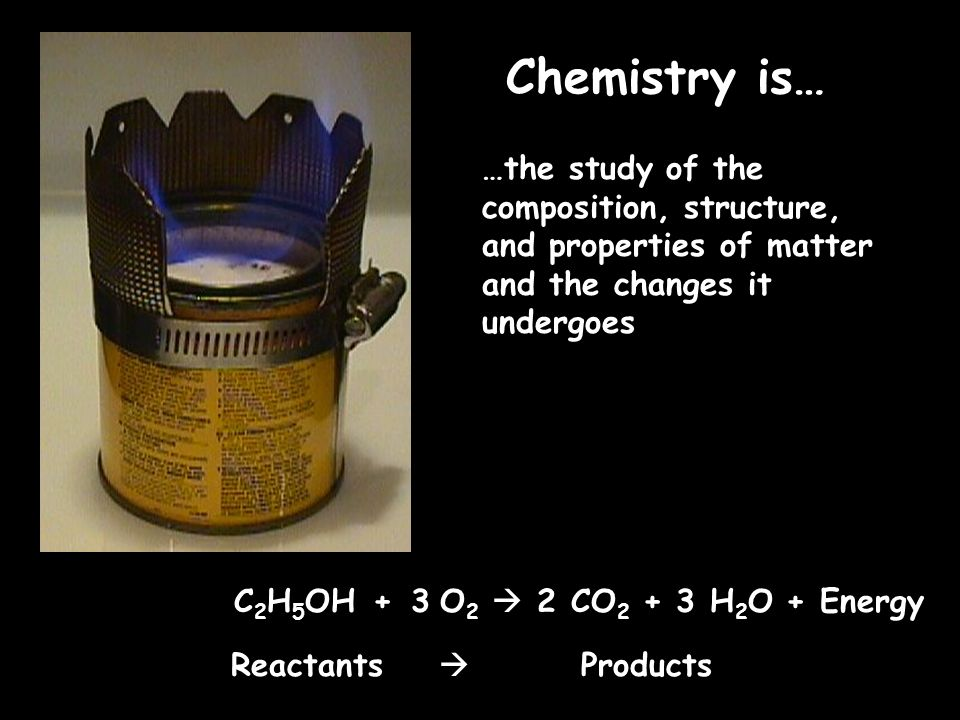 Chemistry is……the study of the composition, structure, and properties of matter and the changes it undergoes.
