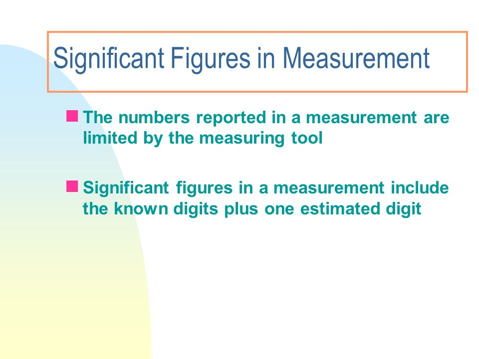 Significant Figures in Measurement