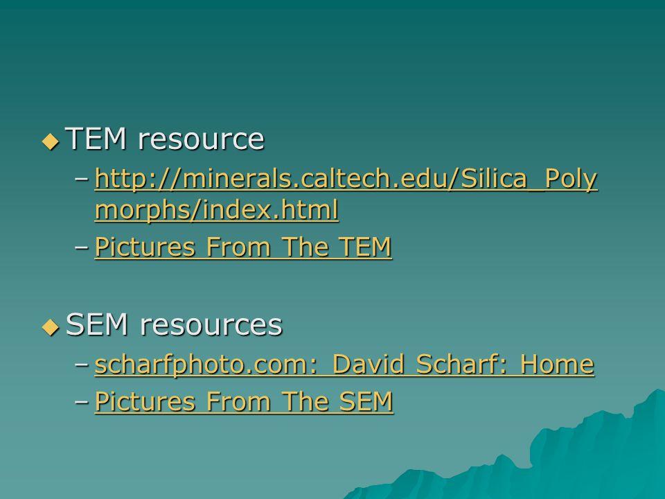 TEM resource SEM resources